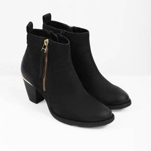 Steve Madden Wantagh Ankle Boots Size 7 Black